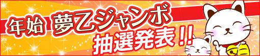 ★年始夢乙ジャンボ宝くじ!結果発表!★